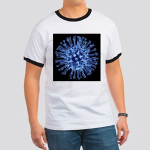 H1N1 flu virus particle, artwork - Ringer T