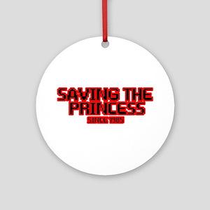 Saving the Princess Ornament (Round)