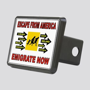 EMIGRATE NOW Rectangular Hitch Cover