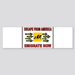 EMIGRATE NOW Sticker (Bumper)