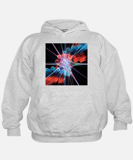 Nerve cell and DNA, artwork - Hoodie