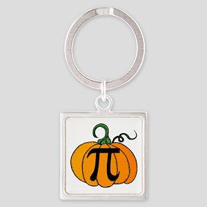 Pumpkin Pi Square Keychain
