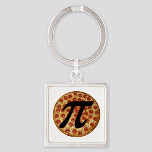Pizza Pi Square Keychain