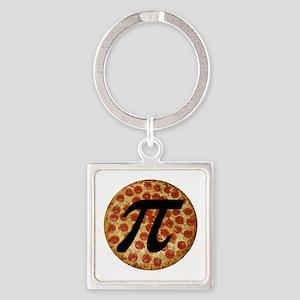 Pizza Pi Square Keychain