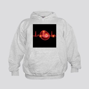 ECG and red blood cell - Kids Hoodie