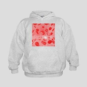 ECG and red blood cells - Kids Hoodie