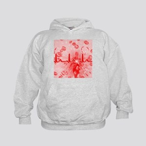 Red blood cells and ECG - Kids Hoodie