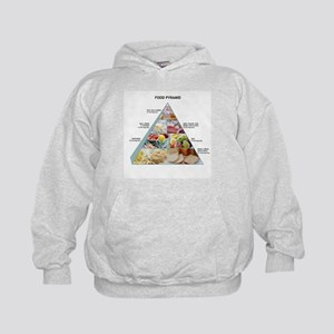 Food pyramid - Kids Hoodie