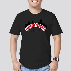 Cincinnati Area Code Men's Fitted T-Shirt (dark)