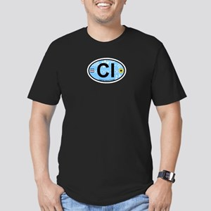 Captiva Island - Oval Design. Men's Fitted T-Shirt