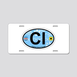 Captiva Island - Oval Design. Aluminum License Pla