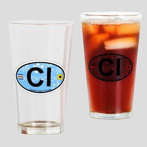 Captiva Island - Oval Design. Drinking Glass