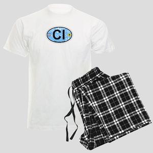 Captiva Island - Oval Design. Men's Light Pajamas