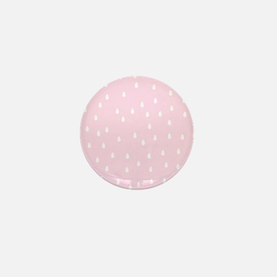 Rain Drop Pattern, Pink. Mini Button
