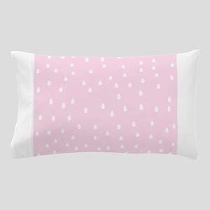 Rain Drop Pattern, Pink. Pillow Case