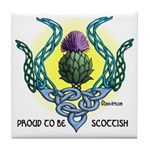 Scottish Thistle Tile Coaster