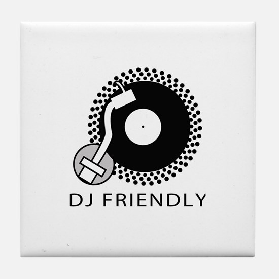 DJ Friendly Tile Coaster