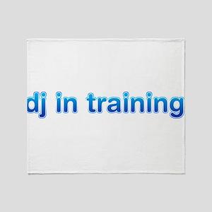 DJ in Training Throw Blanket