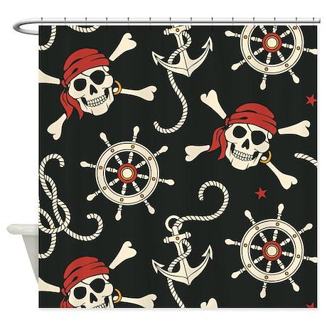 Pirate Skulls Shower Curtain