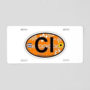 Captiva Island - Oval Design. Aluminum License Pla
