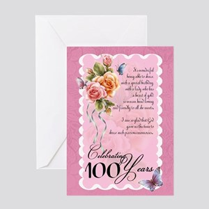 100 Years Old Greeting Card