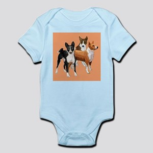 three basenjis Infant Bodysuit