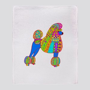 Pretty Poodle Design Throw Blanket