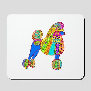 Pretty Poodle Design Mousepad