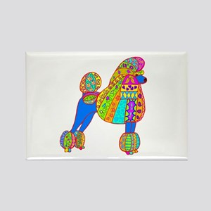 Pretty Poodle Design Rectangle Magnet