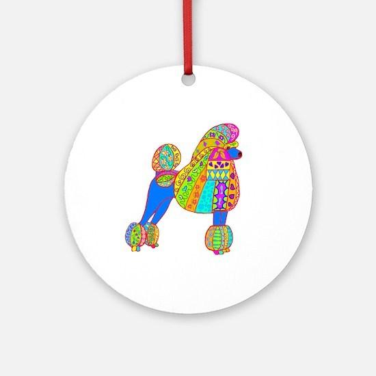 Pretty Poodle Design Ornament (Round)