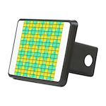 Green and Yellow diagonal tile Pattern Rectangular