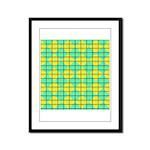 Green and Yellow diagonal tile Pattern Framed Pane