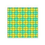 Green and Yellow diagonal tile Pattern Square Stic