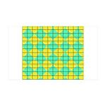 Green and Yellow diagonal tile Pattern 35x21 Wall