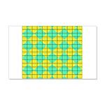 Green and Yellow diagonal tile Pattern 20x12 Wall