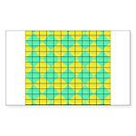 Green and Yellow diagonal tile Pattern Sticker (Re