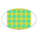 Green and Yellow diagonal tile Pattern Sticker (Ov