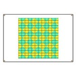 Green and Yellow diagonal tile Pattern Banner