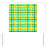 Green and Yellow diagonal tile Pattern Yard Sign