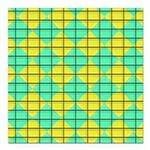 Green and Yellow diagonal tile Pattern Square Car