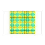 Green and Yellow diagonal tile Pattern Rectangle C