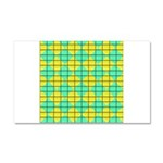 Green and Yellow diagonal tile Pattern Car Magnet