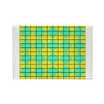 Green and Yellow diagonal tile Pattern Rectangle M