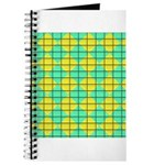 Green and Yellow diagonal tile Pattern Journal