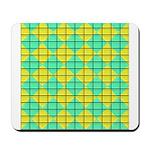 Green and Yellow diagonal tile Pattern Mousepad