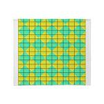 Green and Yellow diagonal tile Pattern Stadium Bl