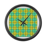 Green and Yellow diagonal tile Pattern Large Wall