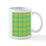 Green and Yellow diagonal tile Pattern Mug