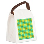 Green and Yellow diagonal tile Pattern Canvas Lunc