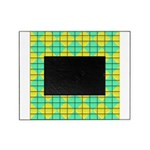 Green and Yellow diagonal tile Pattern Picture Fra